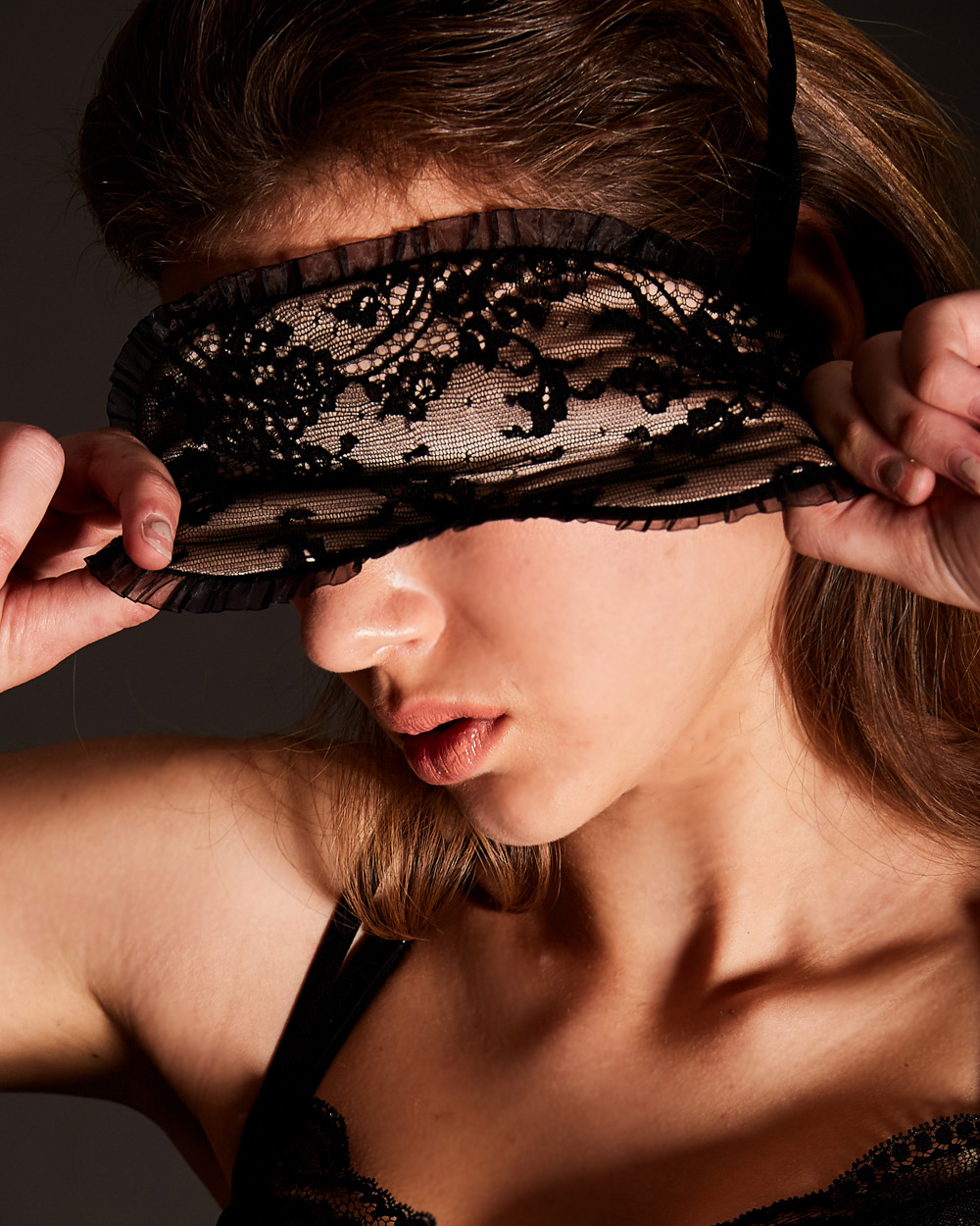 LUXLACE sleep mask bk (EYE MASK)